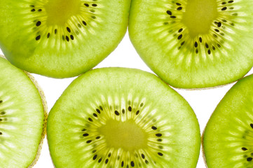 Tuinposter Plakjes fruit Kiwi Slices Close-Up