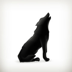 Wolf silhouette