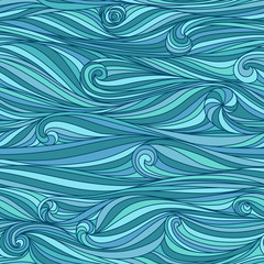 Abstract Waves background. Seamless pattern.