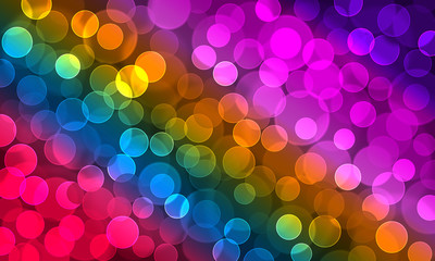 Colorful blurred bokeh background.
