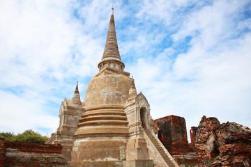 Ancient Buddhist temple in Ayutthaya, Thailand.