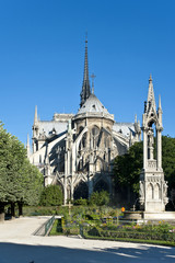 Notre-Dame  de Paris . The Cathedral in Paris. France.