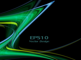 wavy lines with copy space. Eps10