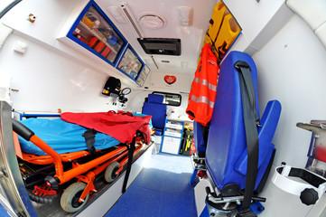 Fototapeta ambulance inside obraz
