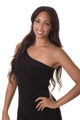 Sexy woman in a little black dress.