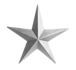 Silver Star Isolated over white background