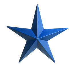 Blue Star Isolated over white background