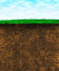 Green grass soil - texture surface