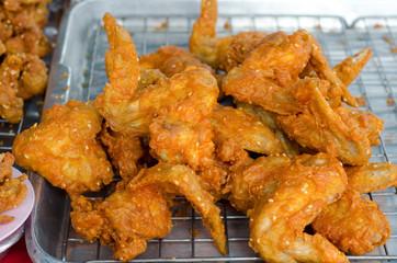 fried Chicken , thai street food.