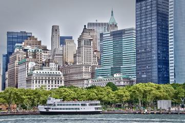 Départs des ferries à Battery Park - New-York