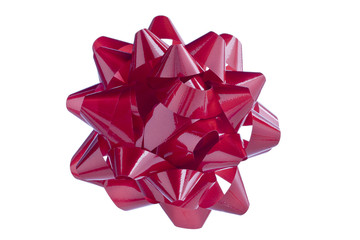 red shinny bow