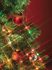 close up image of christmas decoration