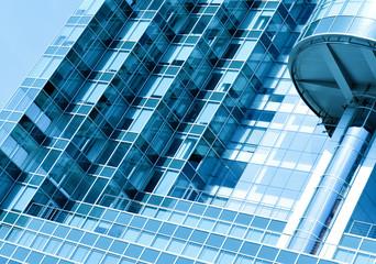 textured glass wall, modern building skyscraper of business cent
