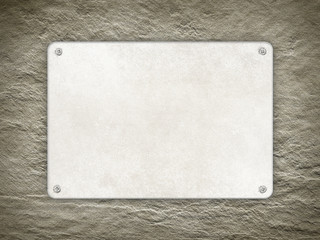 Template - Plate on rough wall background
