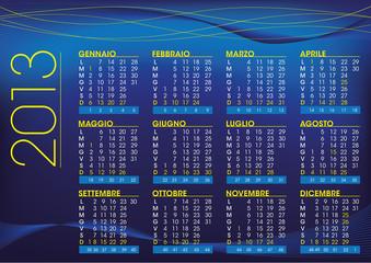 2013 night style italian calendar