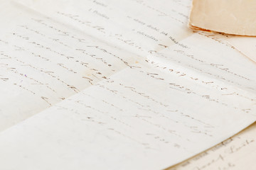 very old handwritten contract