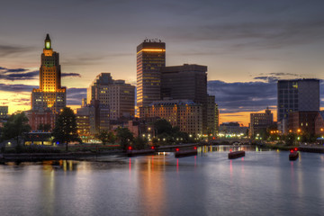 HDR image of the skyline of Providence, Rhode Island