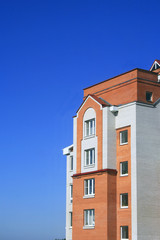 red-white brick house