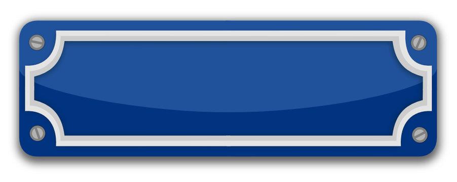 Emaille Straßenschild blau