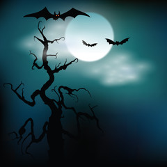 Halloween illustration background. Vector art