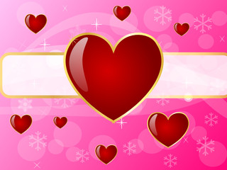 Pink background with many hearts