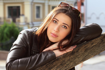 Portrait of brunette girl