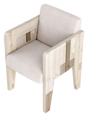 Modern wooden framed chair