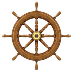 3d Ships Wheel front view