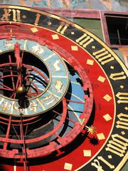 Famous Zytglogge zodiacal clock in Bern, Switzerland