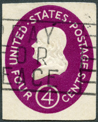 USA - 1952: shows President Benjamin Franklin