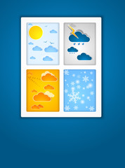 Different seasons outside. Vector