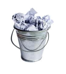 corbeille a papier échec chiffonné