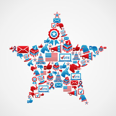 US elections icons star shape