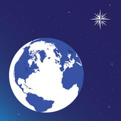 WEB ART DESIGN EARTH STAR SPACE FUTURE  VECTOR 100