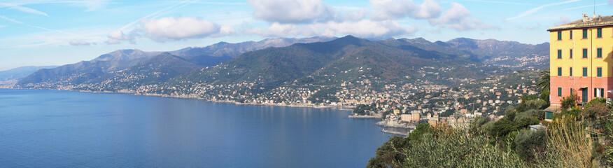 Italian Riviera. View from San Rocco.