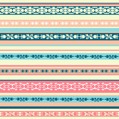 color seamless background with ornaments