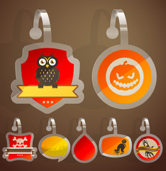 Wall Mural - Set of Halloween stickers.