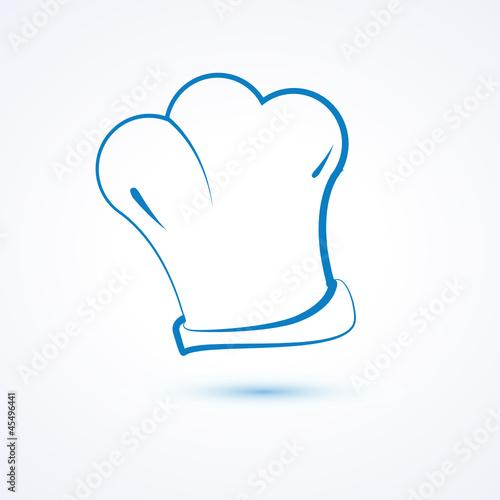 logo dessin restaurant cuisinier toque