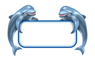 Photo sur Aluminium Dauphins Dolphin Marine Sign