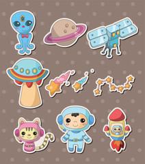Garden Poster Creatures space stickers