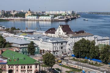 Панорама города нижнего Новгорода