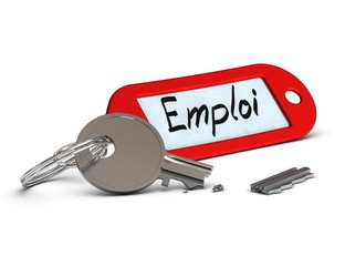 clé cassée, chômage concept, accès à l'emploi