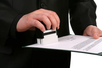 Obraz Put a stamp on the form - fototapety do salonu