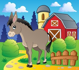 Wall Murals Ranch Donkey theme image 2