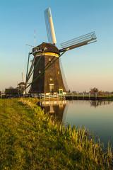 Dutch historic windmill during sunset