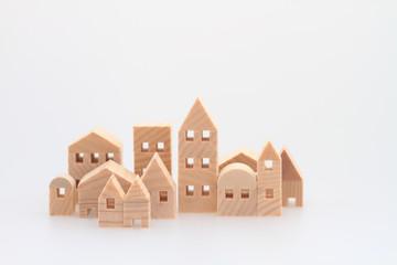 積み木の家 住宅 白バック