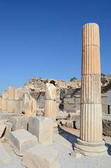 Building detail in Ephesus (Efes) from Roman time in Turkey