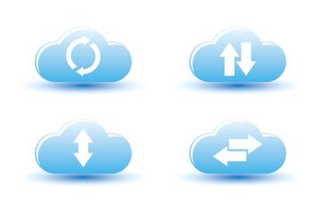 Vector illustration of cloud computing