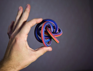 Example of modern colorful 3d printing possibility