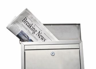 breaking news im Briefkasten